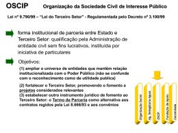 Organização da Sociedade Civil de Interesse Público forma