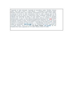 """""""Suspensão de tutela antecipada. Importação de - DPM-RS"""
