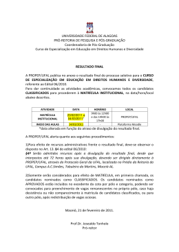 UNIVERSIDADE FEDERAL DE ALAGOAS PRÓ