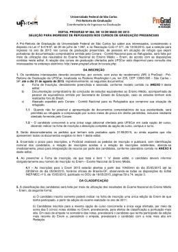 Edital - SACI@UFSCar - Universidade Federal de São Carlos