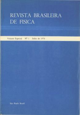 REVISTA BRASILEIRA DE FISICA - Sociedade Brasileira de Física