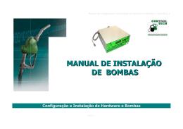 MANUAL DE INSTALAÇÃO DE BOMBAS