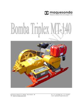 Lista de Material da Bomba Triplex MT-140