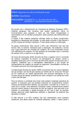 TÍTULO: Segurança nas redes de distribuição