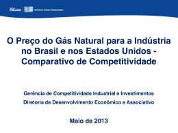 O Preço do Gás Natural para a Indústria no Brasil e