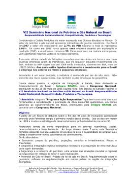 VII Seminário Nacional de Petróleo e Gás Natural no Brasil: