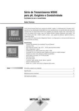 Dados Técnicos Série de Transmissores M300