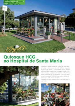 Quiosque HCG no Hospital de Santa Maria