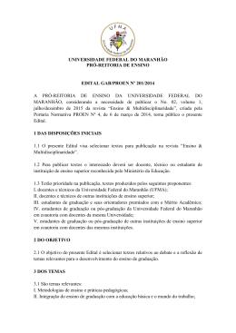 universidade federal do maranhão pró