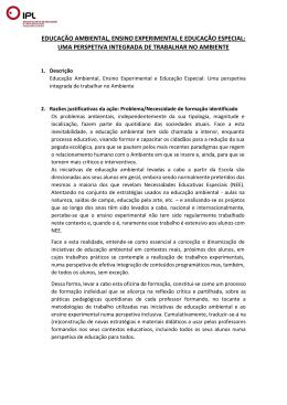 educação ambiental, ensino experimental e educação especial