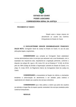 Provimento nº 05/2013