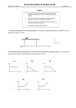 Teste 1 - Física e Química? Absolutamente!