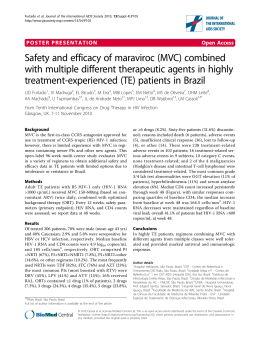 Safety and efficacy of maraviroc (MVC) combined
