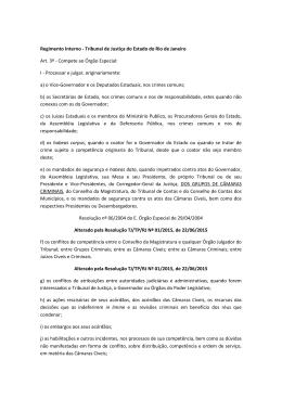 Competência - Tribunal de Justiça do Estado do Rio de Janeiro