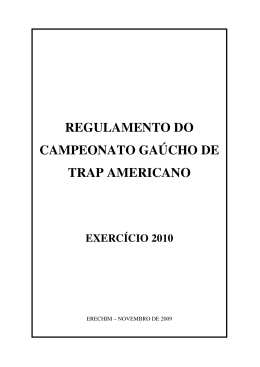 Regulamento de Trap Americano