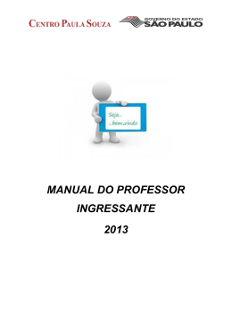 MANUAL DO PROFESSOR INGRESSANTE 2013