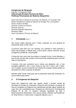 Congresso do Desporto Intervenção Ernesto Ferreira da Silva
