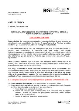 CHÃO DE FÁBRICA - Revista RG Móvel