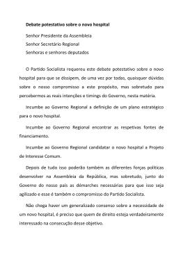Apresentação da iniciativa, por Jaime Leandro (PS)