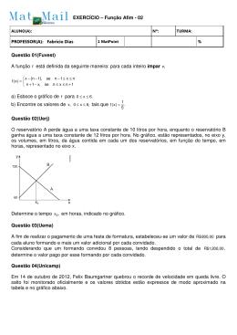 Função Afim - matmail.com.br