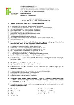 (lista cálculo proposicional)