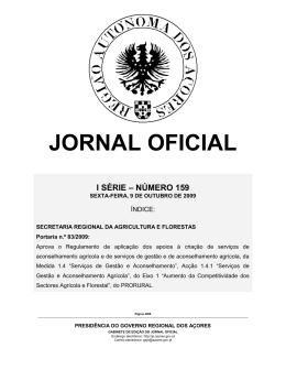JORNAL OFICIAL - Federação Agrícola dos Açores