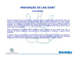 PREVENÇÃO ÀS LER/DORT - Portal Ergonomia no Trabalho