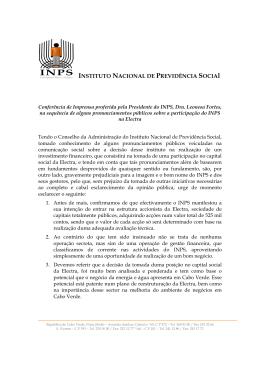 INSTITUTO NACIONAL DE PREVIDÊNCIA SOCIAl