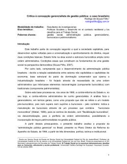 Crítica à concepção gerencialista de gestão pública: o caso brasileiro