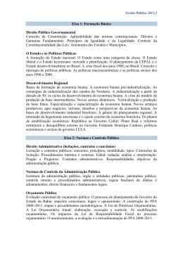 EMENTAS GESTÃO PUBLICA - Faculdade Adventista da Bahia