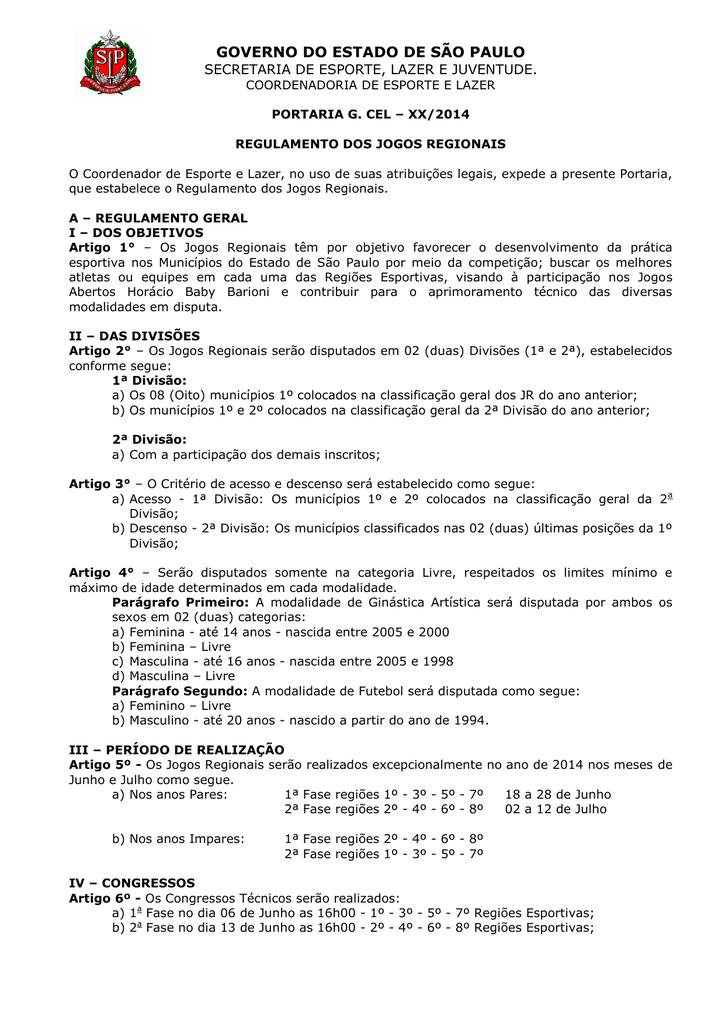83d75e2009 Regulamento Jogos Regionais SELJ SP 2014