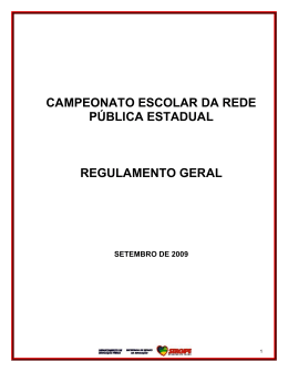 Regulamento Geral e Específicos