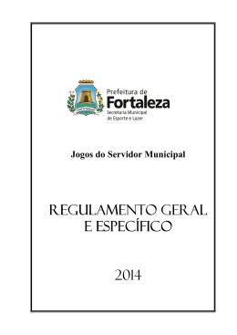 Regulamento - Prefeitura Municipal de Fortaleza