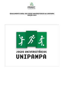 regulamento geral dos jogos universitários 2015 - Pró