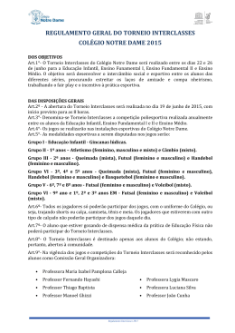 Regulamento Torneio Interclasses 2015