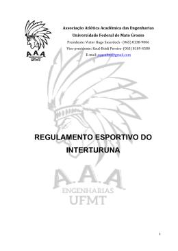 REGULAMENTO ESPORTIVO DO INTERTURUNA