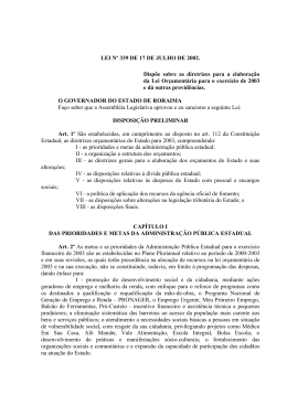 PROJETO DE LEI Nº 019/02