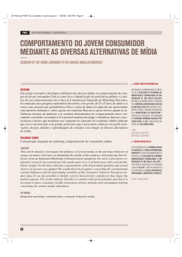 comportamento do jovem consumidor mediante as diversas