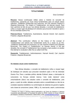 LITERATURA E AUTORITARISMO