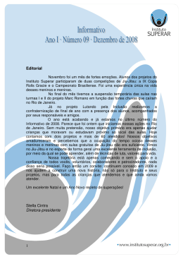 Informativo 09 – Dezembro de 2008