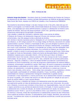 ECA – 18 Anos de vida Antonio Jorge dos Santos