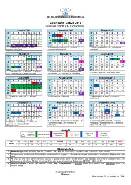 Calendário Escolar para 2008 – Sugestão 01 - ESI