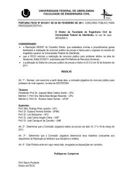 Edital 010/2011 - Comissão Julgadora
