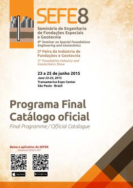 Programa Final Catálogo oficial