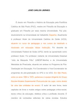 Prof. Dr. José Carlos Libâneo - Universidade Federal de São Carlos