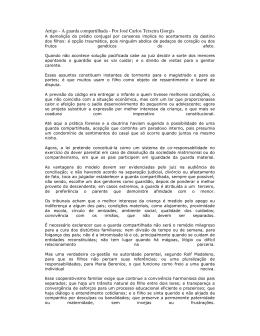 Artigo - A guarda compartilhada - Por José Carlos Teixeira