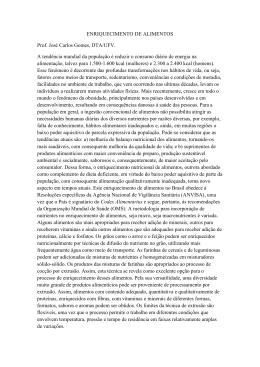 ENRIQUECIMENTO DE ALIMENTOS Prof. José Carlos