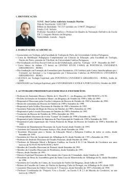 1. IDENTIFICAÇÃO: NOME: José Carlos Ambrósio Assunção
