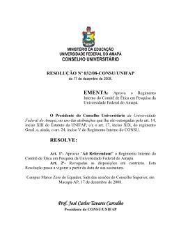 RESOLVE: Prof. José Carlos Tavares Carvalho