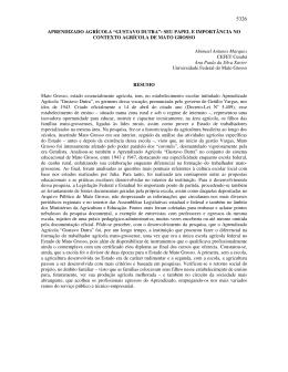 """APRENDIZADO AGRÍCOLA """"GUSTAVO DUTRA"""": SEU PAPEL E"""